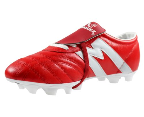 Soccer Cleats Manriquez MID SX Red White Genuine Leather Adult