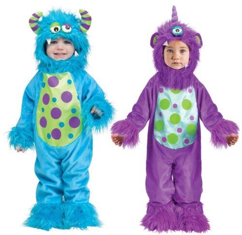 BABY Ragazzi Ragazze Blu Viola Halloween Mostro Costume Vestito 6-24mth