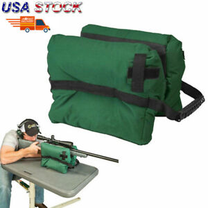 Tactical-Shooting-Gun-Rest-Front-Sand-Bags-Rifle-Bench-Steady-Unfilled-Green-US