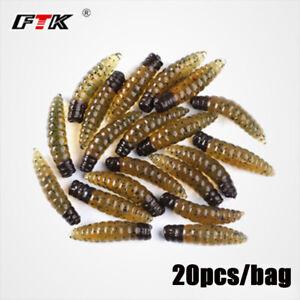 20pcs-Soft-Fishing-Lure-Bass-Wobblers-Worms-Maggots-Shape-Trout-Fishing-Bait