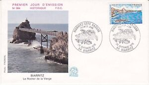 Enveloppe-1er-jour-FDC-n-984-1976-Biarritz-La-Cote-Basque