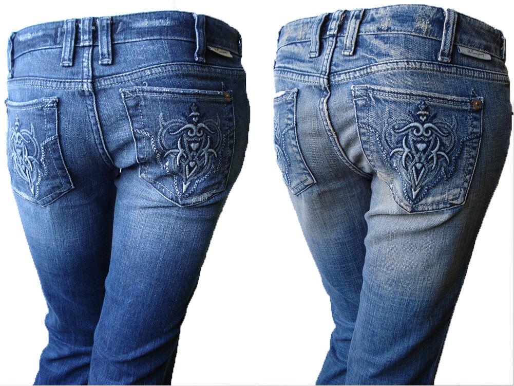 J& Company Damen Denim Hose Jeans Beverly HAI THU Blau Neu