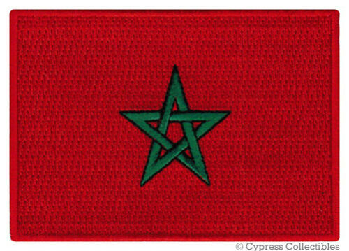MOROCCO FLAG embroidered iron-on PATCH MOROCCAN KINGDOM EMBLEM applique NEW