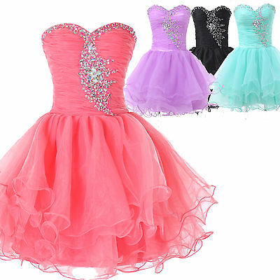 Teens Graduation Dresses Short Bridesmaid Wedding Guest Evening Gown Prom Dress