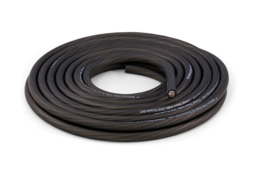 KnuKonceptz Kolossus Ultra Flex Battery Ground Wire 4 Gauge Black Cable OFC 50Ft