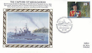 1992-WW2-50th-ANNIVERSARY-THE-CAPTURE-OF-MADAGASKAR-BENHAM-SILK-COVER-SHS