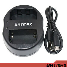 Batmax - Dual USB Charger for Sony Bateries NP-F550 + USB Cable