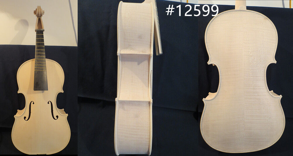 Hand made Unfinished big 5 string lila 17 7 8  fretted lila (455mm)