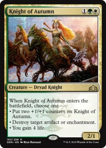 English 1x MTG Guilds of Ravnica Singles Knight of Autumn NM-Mint