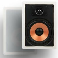 Micca M-8s 8 Inch 2-way In-wall Speaker With Pivoting 1 Silk Dome Tweeter Each,