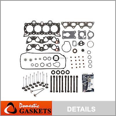 Full Gasket Set Intake Exhaust Valves Fit 92-95 Honda Civic D15B1 D15B7 D16A6
