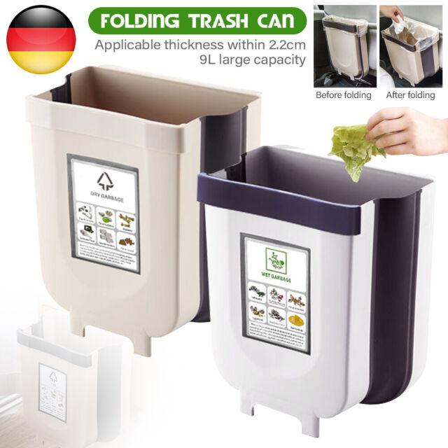 Details about  /9L Küchen Wandmontage Falten Mülleimer Abfallsammler Küchenabfalleimer Faltbarer
