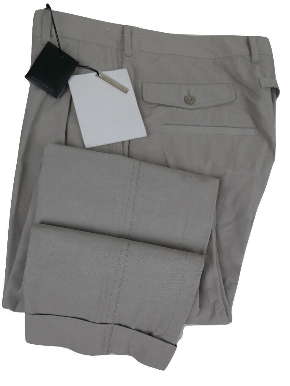 GAZZARRINI NAPOLI 32 EU Cotone Slim ITALIANO nwts Pantaloni Marco HAND MADE