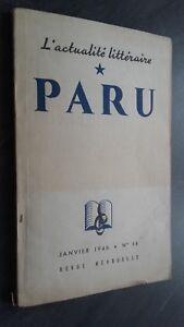 ACTUALIDAD LITERARIA Liberado Janvier 1946 N º 14 Revista ABE Mensual