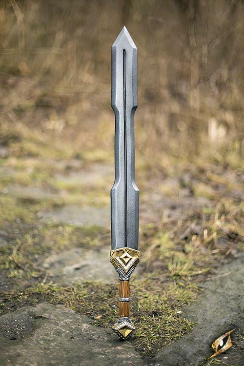 Foam Latex Dwarf Double Edge Sword 85 cm för LARP Cosspela Costume och Safe Play