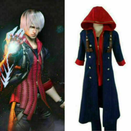 Devil May Cry 4 Nero Outfit Uniform Cosplay Costume!Free shipping