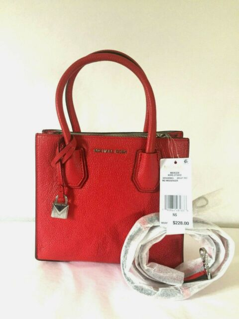 0581919abc33 Michael Kors Mercer Medium Crossbody Bag Bright Red 30f6sm9m2l for ...