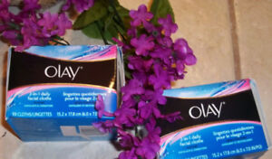 2-Olay-33-Count-2-in-1-Daily-Facial-Cleanser-Cloths-For-Normal-SkiN-AUTHENTIC