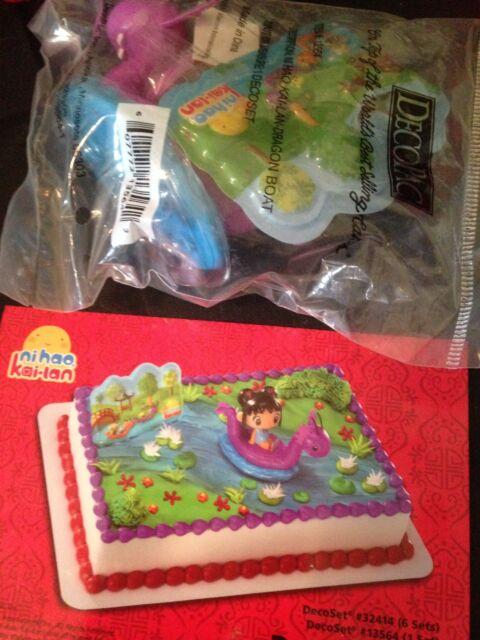 Ni Hao Kai Lan Dragon Boat Birthday Cake Decorating Kit Ebay