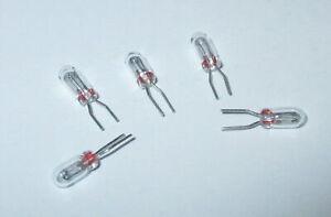 Ersatzlampen-Gluehlampe-steck-Maerklin-Trix-610080-22V-24mA-5-Stueck-034-NEU-034