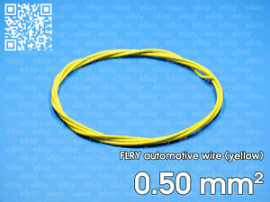 Details about Automotive wire FLRY 0 5mm², yellow color, 1 meter length