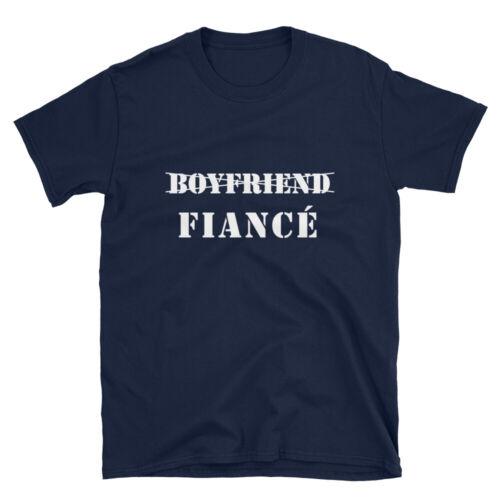 Mens Engaged Shirts Just Married Wedding Engagement Boyfriend Fiance T-Shirt