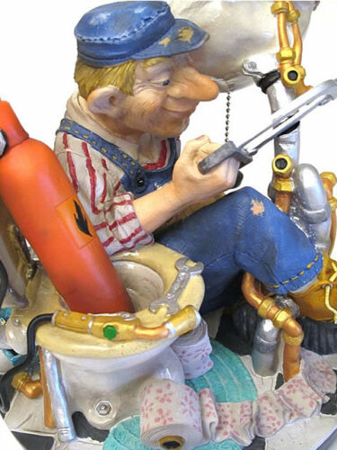 Skulptur Figur 20613O Profisti Klempner Installateur