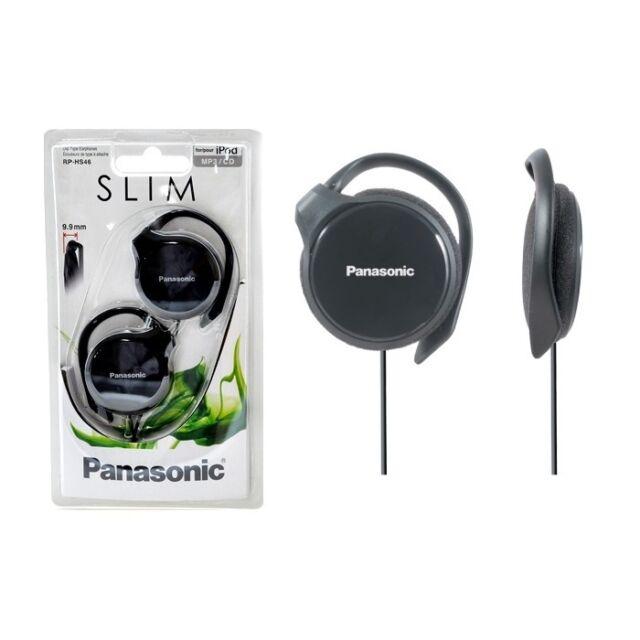 Panasonic RPHS46EW WHITE Slim Headphones Clip Type Earphones RP-HS46