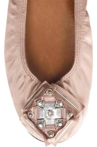 perfezionare LANVIN NUDE SATIN EMBELLISHED BALLERINA FLATS WEDDING EU 39 I I I LOVE scarpe  acquista online oggi