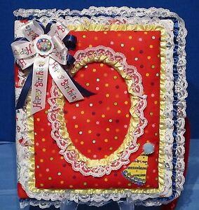 "Handmade ""Birthday Party"" 8 1/2x11 Photo Album"