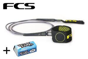 FCS-6-039-Charcoal-Gold-Freedom-Surfboard-Leash-Wax