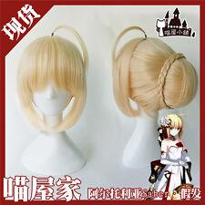 Anime Fate stay night/zero Saber Arturia Pendragon cos wig+wig cap