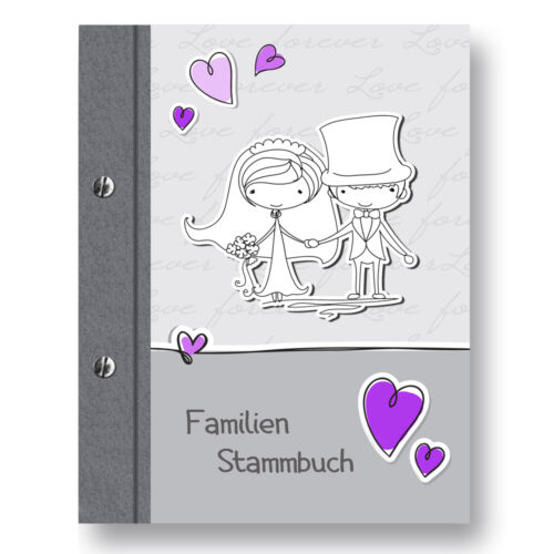 Stammbuch Comical A4 lila Familienstammbuch Stammbuch der Familie Dokumente