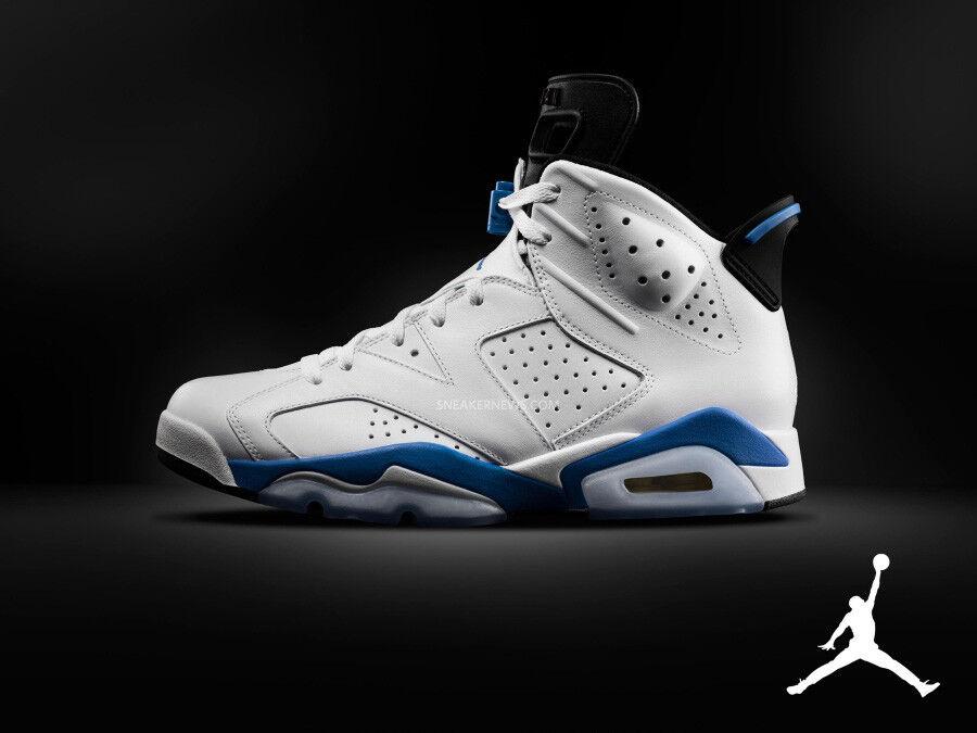newest b842d efabb Nike Air Jordan Jordan Jordan Retro 6 vi Sport azul tamaño 10,5.384664-107