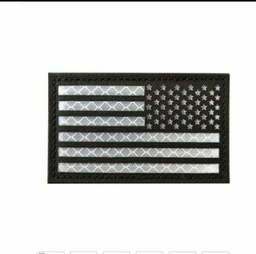 Reflective IR United States America US Flag Tactical Morale Patch Fasteren Badge