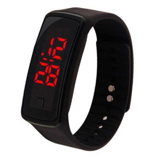 Kids Boys Girls Sport LED Rubber Silicone Bracelet Digital Wrist Watch Fitness