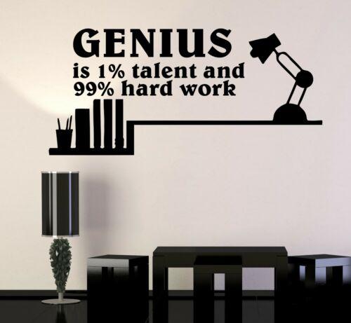 Настенная наклейка гений талант слов цитата мотивация вдохновение наука винил ed1475