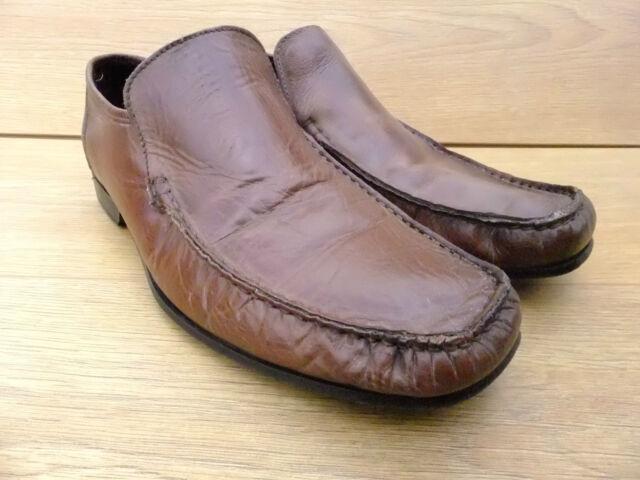 KURT GEIGER  Mens Tan Leather Slip on Shoes Size  UK 7 EUR 41