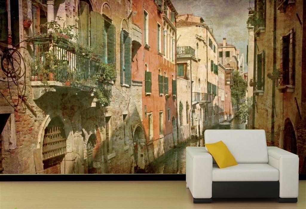 3D Town Venice 88 Wall Paper Murals Wall Print Wall Wallpaper Mural AU Summer