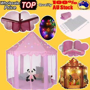 Pink-Princess-Castle-Girl-Play-Tent-Fairy-House-Children-Kids-Canopy-LED-Light