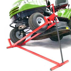 Rasentraktorheber-400-kg-Hebevorrichtung-Hebebuehne-Aufsitzmaeher-Reinigungshilfe