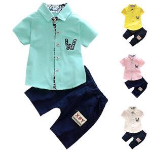 Summer Toddler Baby Boy Kids Clothes Boys Outfits Sets Short Shirt Pants Tops Ebay