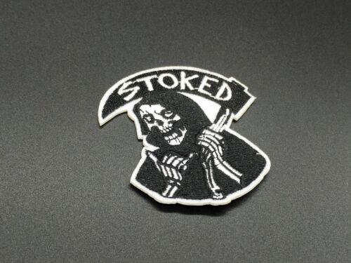 parche calavera muerte death skull reaper  stoked iron ropa moda custom  patch