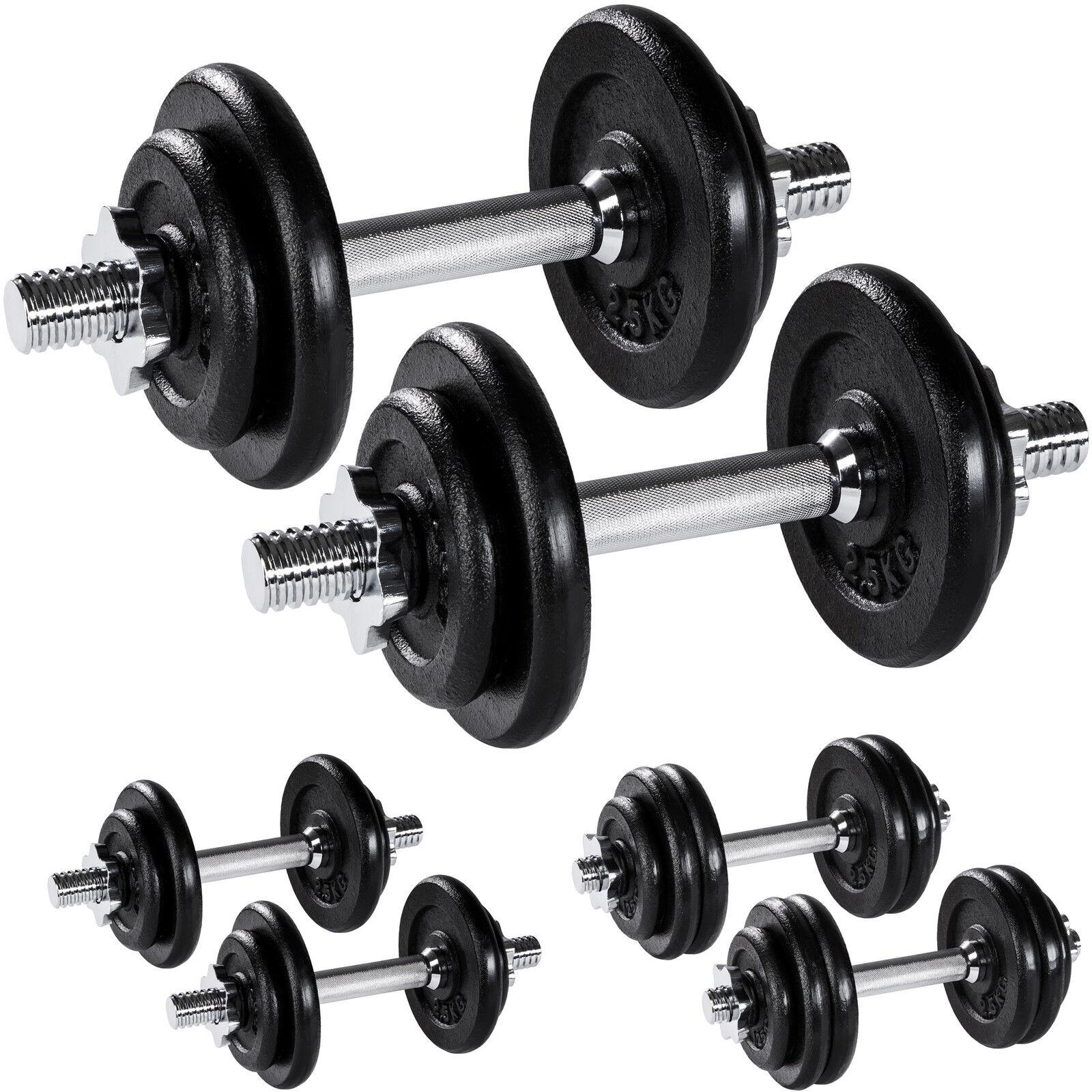 Set d'haltères courts poids barres disques fitness musculation biceps exercice