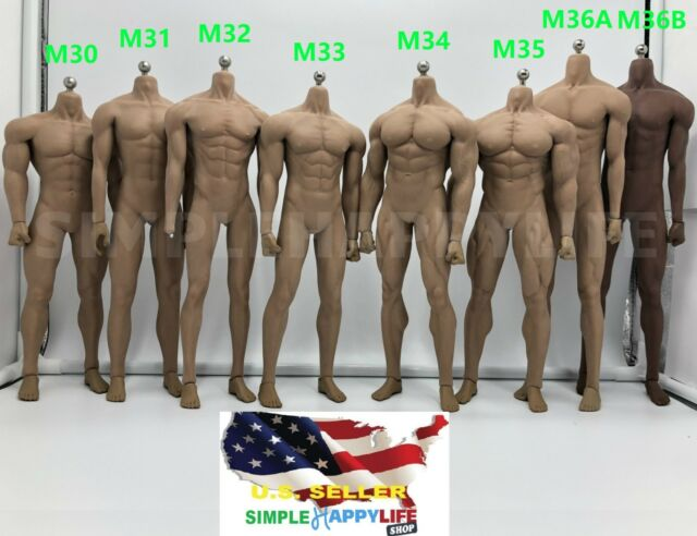 TBLeague PHICEN 1//6 Seamless Steel Skeleton Male Muscular Figure Body M36 M36A