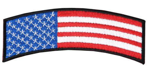 USA US FLAG TAB TACTICAL MORALE IRON ON 4 INCH ARM ROCKER PATCH