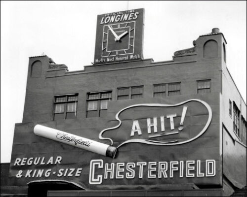 Polo Grounds #7 Photo 8X10-1954 Chesterfield Sign B/&W