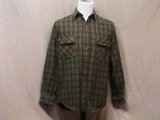 Five Brothers Men's Medium 100% Cotton Plaid Flannel Button Front Shirt - EUC
