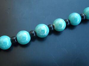 1 Fluocarbon Einige 24 Bälle Keramik 11mm Grün Kugel Perlen Konten Thread Senility VerzöGern