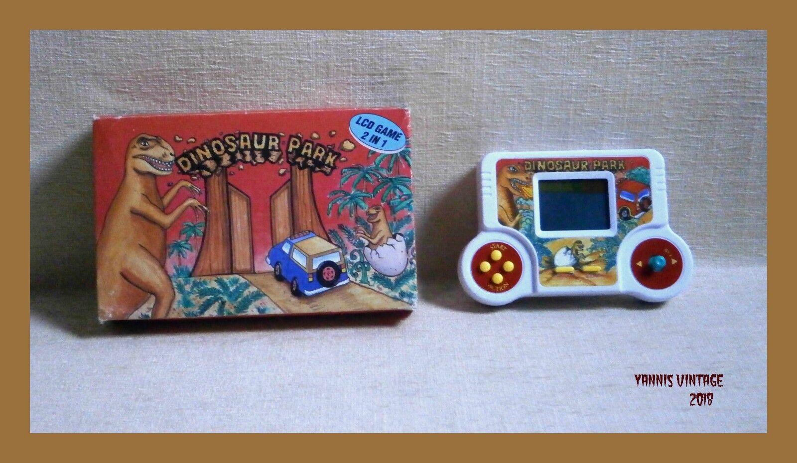 barato  Dinosaurio Dinosaurio Dinosaurio Parque  Juego de LCD electrónico portátil nuevo en caja vintage raro años 80 en funcionamiento  moda